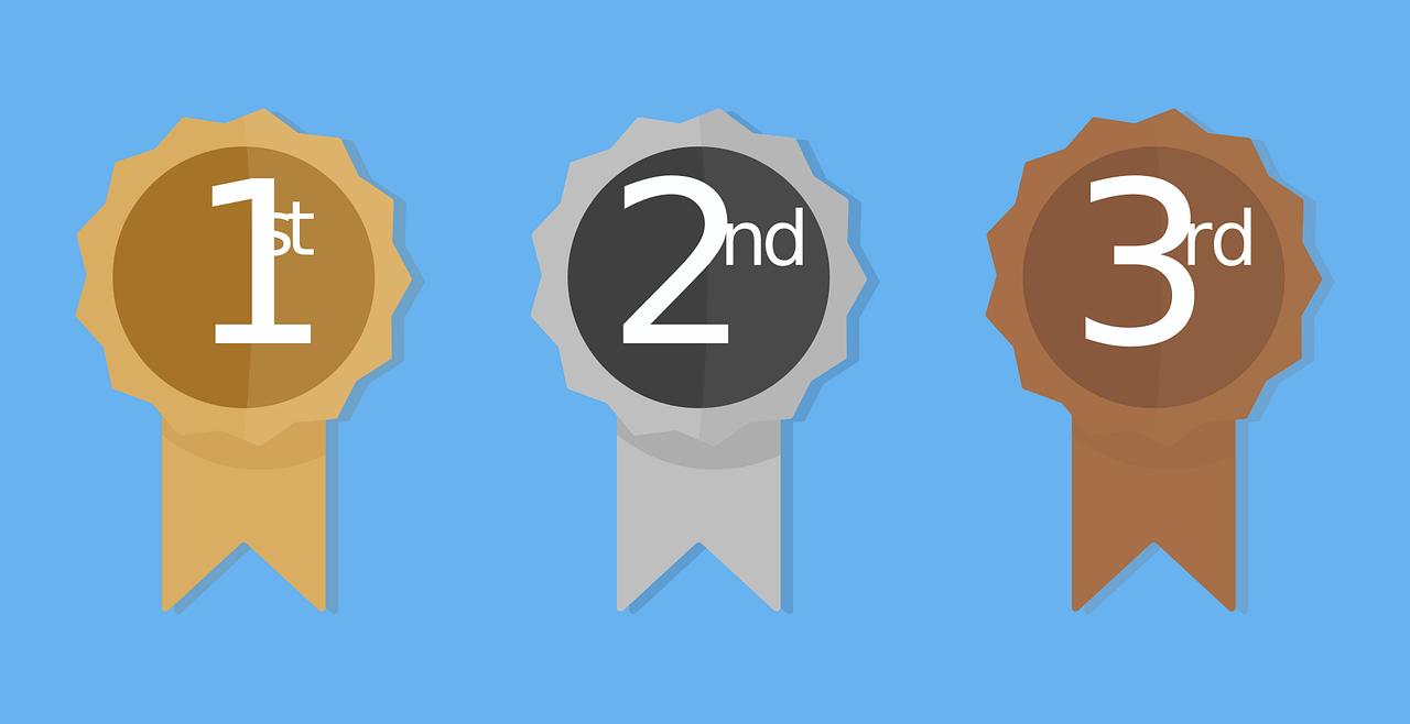 Medaillen von Platzierungen