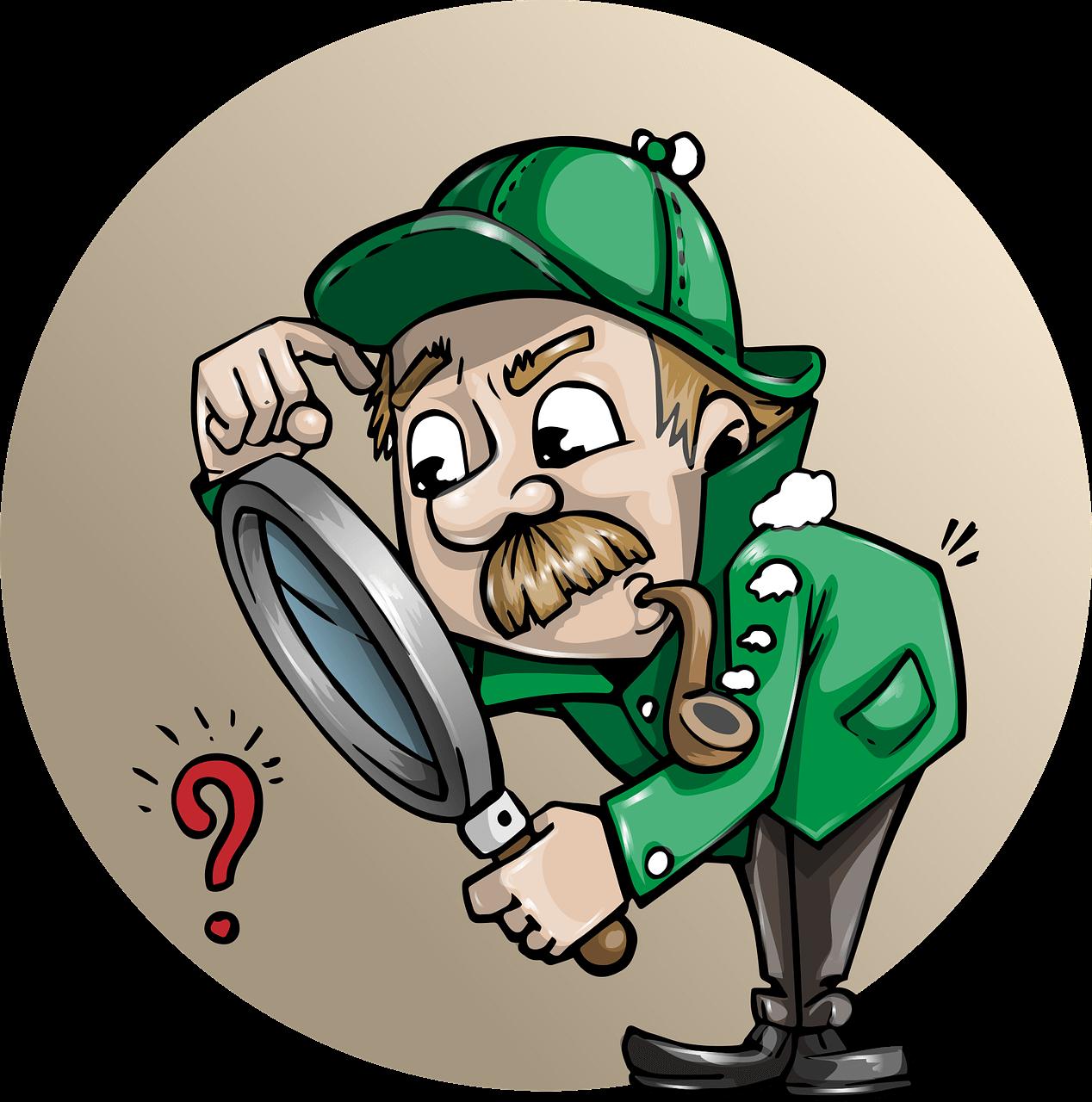 Suchintention herausfinden - Cartoon Detektiv